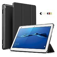 ELTD Huawei MediaPad M3 Lite 10 Cover Custodia - Slim Smart Auto Sleep Wake up / Standfunction Cover Custodia Protettiva in pelle PU per Huawei MediaPad M3 Lite 10.0 Tablet, Nero
