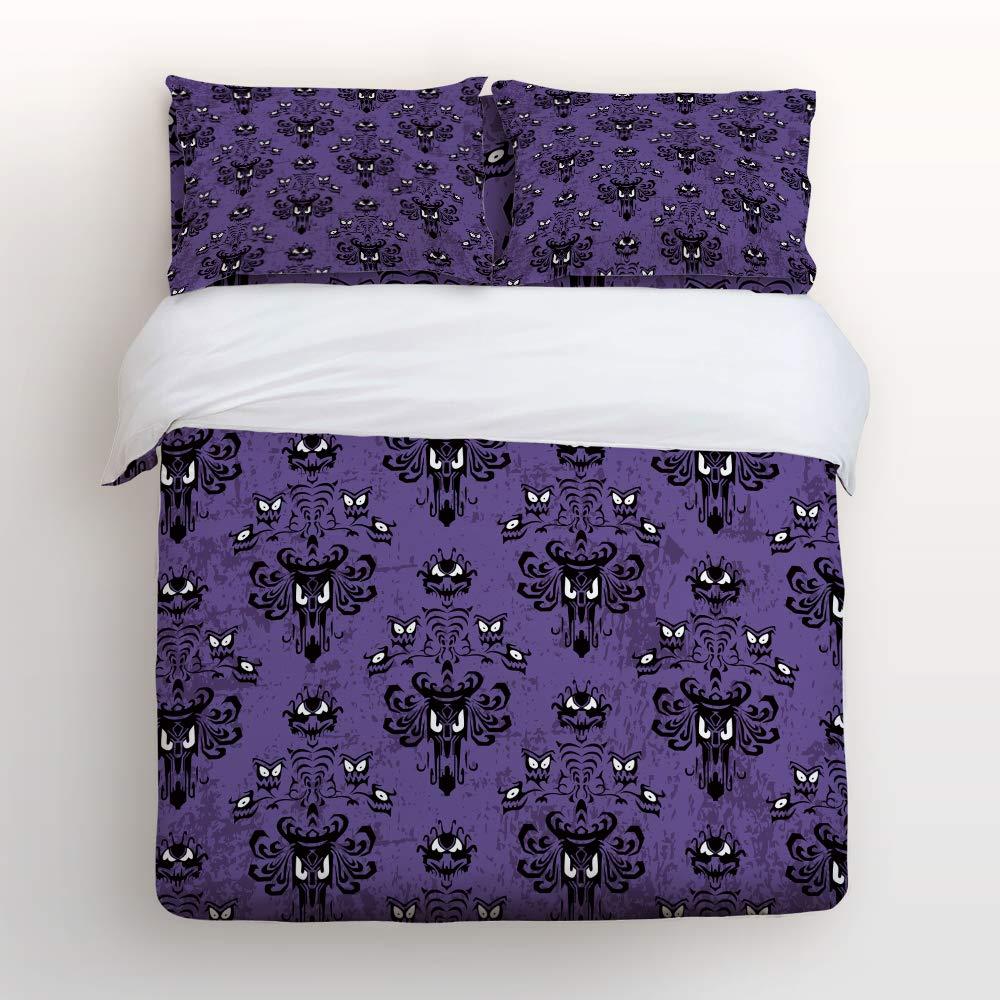 Lightweight Bedding 4 Piece Halloween Haunted Mansion Duvet Cover Set 4 Pcs Set (1 Duvet Cover, 1 Bed Sheet, 2 Pillowcases) Bedding Sets King Size