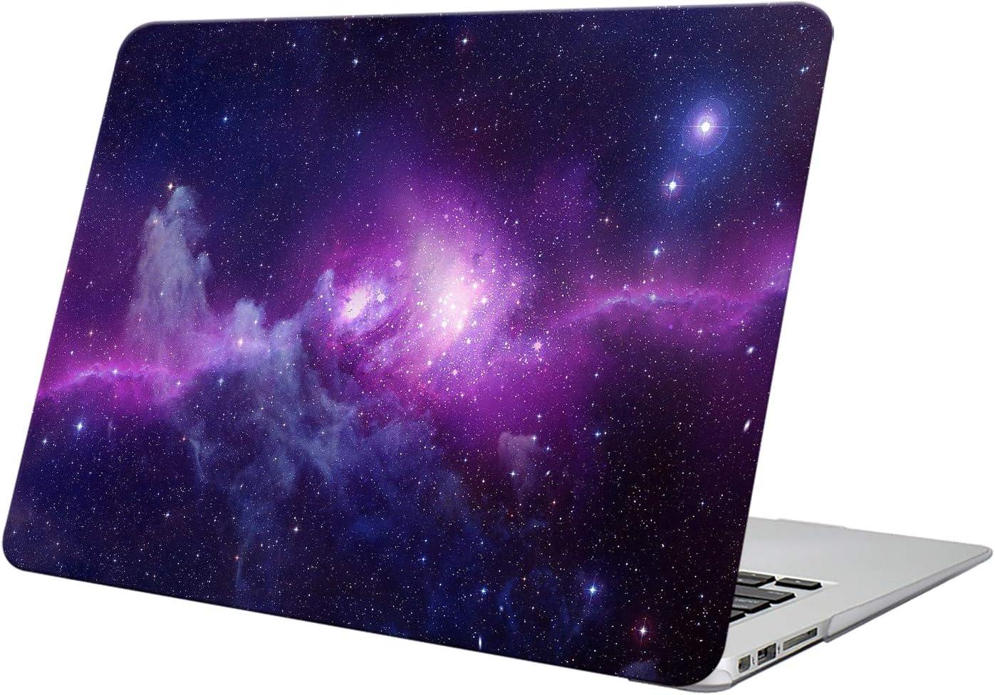 Funut Compatible with MacBook Pro 13 Inch Case A1278, Rubberized Hard PC Shell Case Scratch-Free Protective Cover for 2015 MacBook Pro 13.3 Inch Model A1278 Non-Retina, Purple Nebula