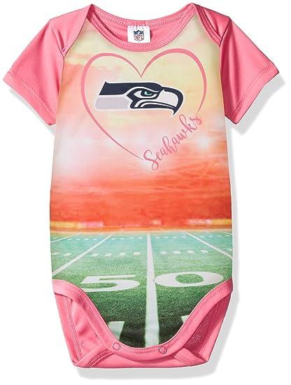 more photos ccffd b0d55 Amazon.com : NFL Seattle Seahawks Baby-Girls Short-Sleeve ...