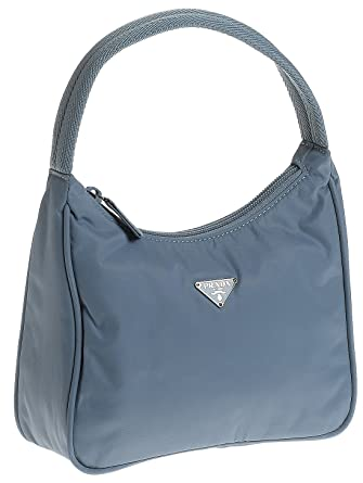 98a7751924a6fa Amazon.com: Prada Women's MV519 Mini Nylon Hobo, Blue: Clothing