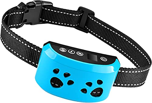 Dog Bark Collar 2020 Upgrade -7 Adjustable Sensitivity and Intensity Levels-triple Anti-Barking Modes Rechargeable Rainproof Reflective -No Barking Control Dog Collar for Small Medium Large dogs