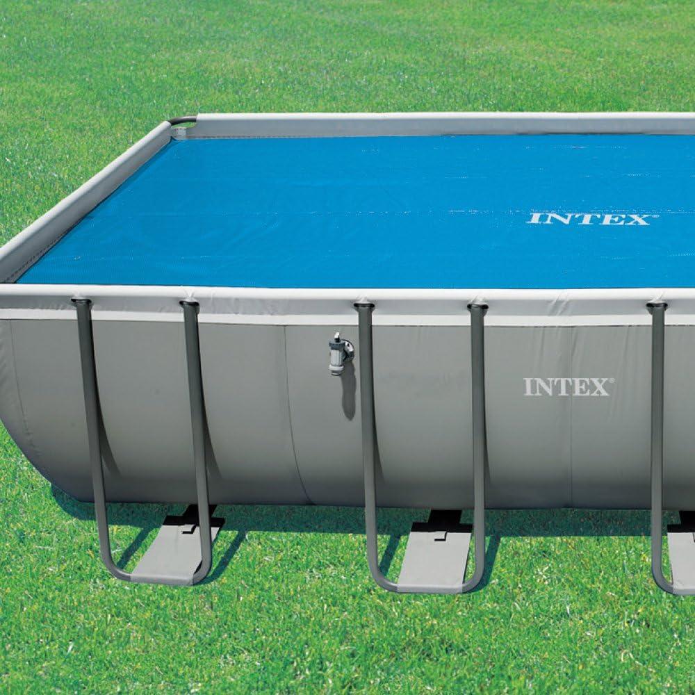 Rectangular 732 x 366 cm blue Intex Solar Cover for Swimming Pools