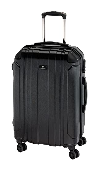 Tops Juego de maletas, Trolley Hartschale TSA Zwillingsrollen Reisekoffer 4 kg 70 L 66x44x27 cm (negro) - 6687414: Amazon.es: Equipaje