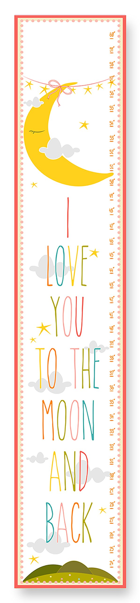 Amazon the kids room by stupell you are my sunshine growth the kids room by stupell i love you to the moon and back growth chart nvjuhfo Choice Image