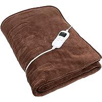 Deuba Manta eléctrica térmica con 9 niveles de calor, temporizador y control remoto Calienta camas 180x130 extra-suave