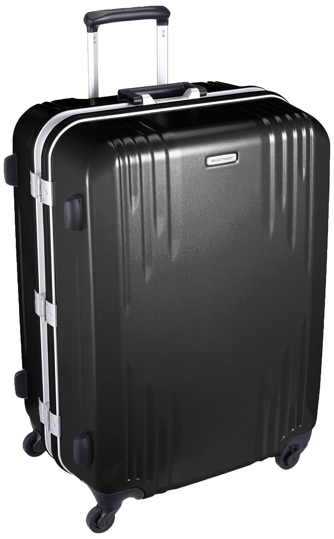 [ワールドトラベラー] スーツケース 日本製 カタノイ サイレントキャスター 96L 65cm 5.8kg 04072 B01N5TQ4U6 ブラック ブラック
