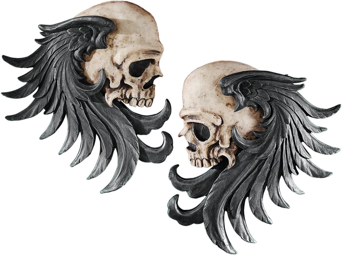 Design Toscano Bad to the Limited time for free shipping Bones Wall Albuquerque Mall Sculp Skull Winged Sentinel