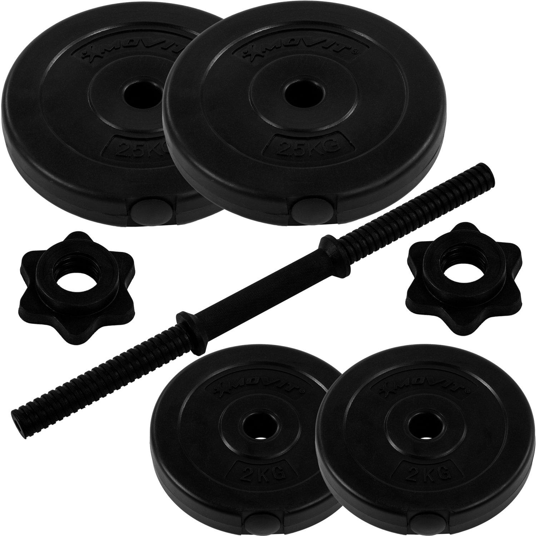 MOVIT Kurzhantel Set Stangen gerendelt mit Sternverschlüssen Varianten 1x10 bis 1x20 kg