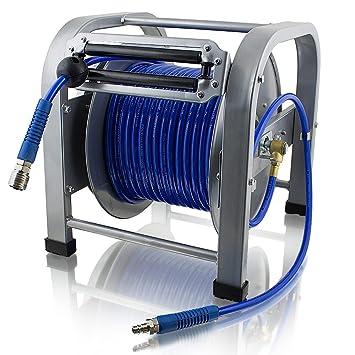 BITUXX® Druckluft Schlauchtrommel 12 Meter mit Automatik Schlauchaufroller 12m
