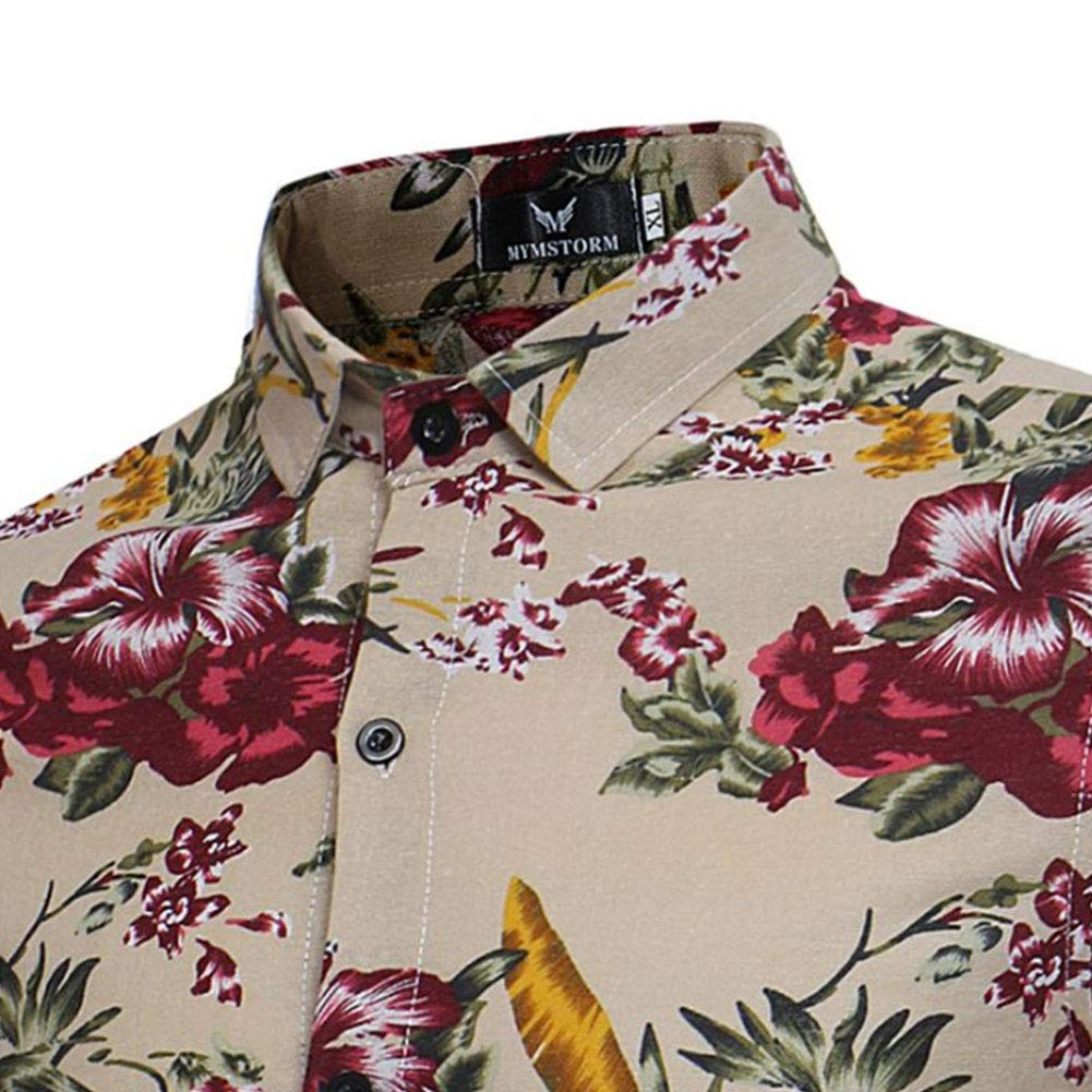Utopiayzr Mens Wrinkle Free Casual Fashion Short Long-Sleeve Shirt Business Checked Shirt,a,XL