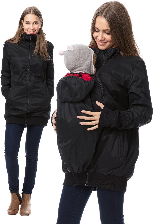 GoFuture Damen Tragejacke f/ür Mama und Baby 4in1 K/änguru Jacke Umstandsjacke aus Soft Shell und Fleece