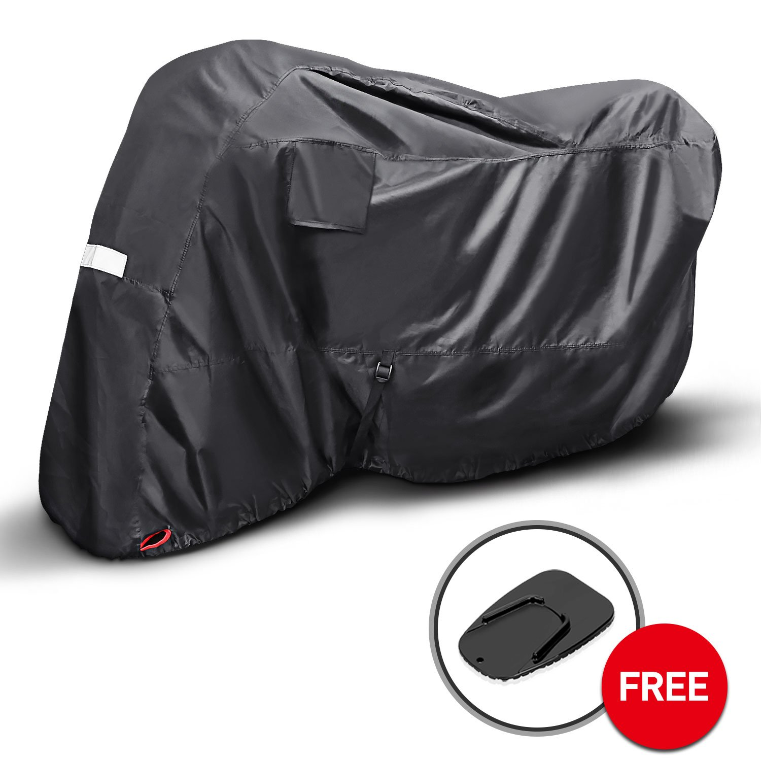 KAKIT Motorcycle Cover, Waterproof All Weather Outdoor Protection Motorcycle Covers, 210D Oxford Durable and Tear Proof, Fits up to 90.2' Motors, for Harley, Honda, Yamaha, Suzuki and More Fits up to 90.2 Motors 4333030674