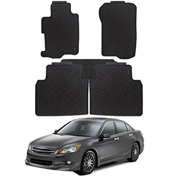 TUPARTS Rubber Car Floor Mats for 2011-2018 fit Ford Explorer 6PCS Full Set All Weather Floor Liners Black
