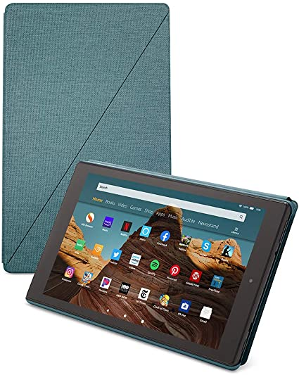 Amazon Com Amazon Fire Hd 10 Tablet Case Twilight Blue Kindle Store