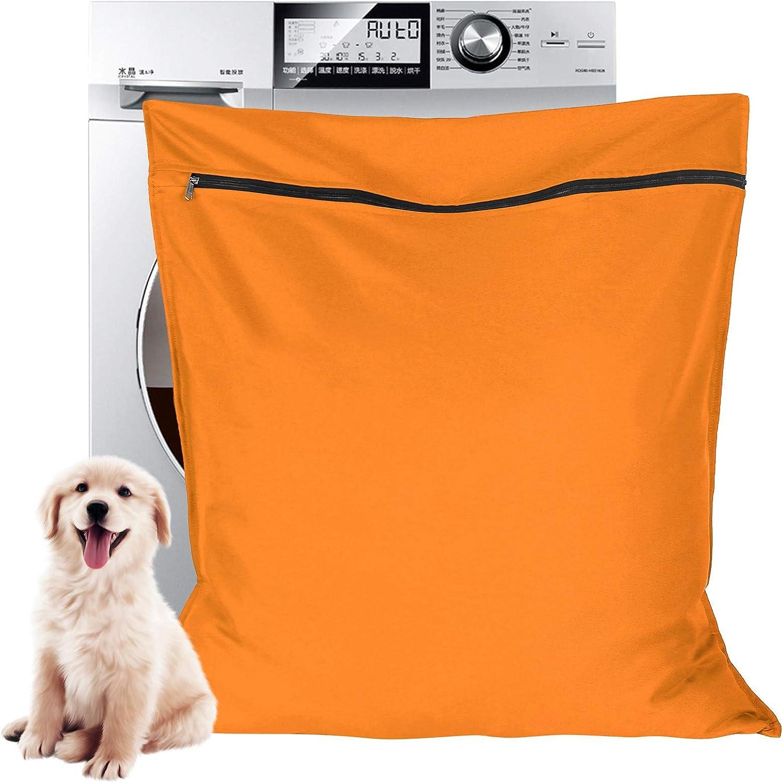 Large Size Ideal For Dog Cat Horse Rabbit Stops Pet Hair Blocking the Washing Machine Aoliandatong Pet Laundry Bag Pet Wash Bag for Washing Machines Orange
