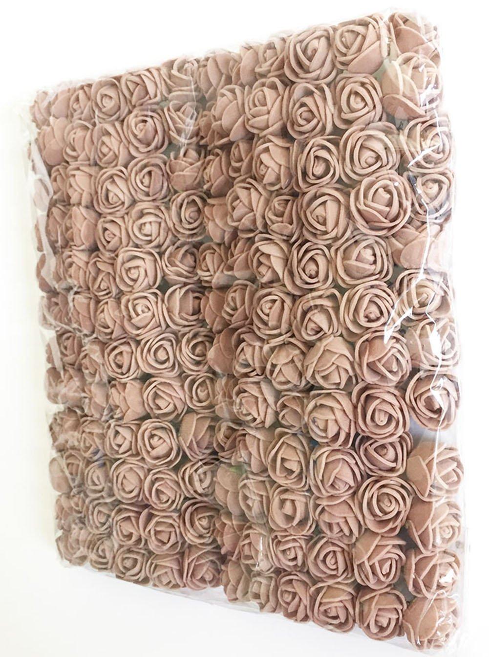 Fake-Rose-Flower-Heads-Artfen-144pcs-Mini-Artificial-Roses-DIY-Wedding-Flowers-Accessories-Make-Bridal-Hair-Clips-Headbands-Dress-Approx-1-Inch-Diameter