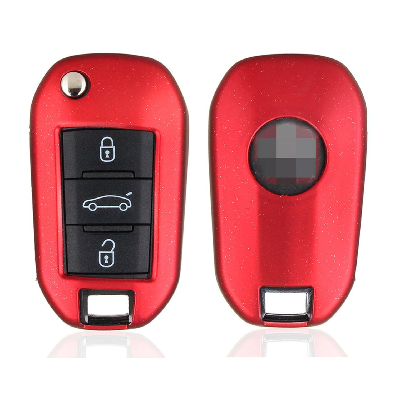 M.JVisun - Carcasa de Silicona Suave para Peugeot Flip Key ...