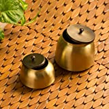 """ExclusiveLane""""Golden Coupled"""" Handcrafted Multi Utility Kitchen Storage Jars and Containers with Lid"""