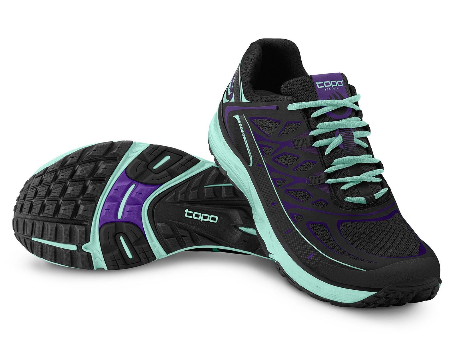 Topo Athletic MT2 Trail Running Shoe - Women's Black/Ice 8.5