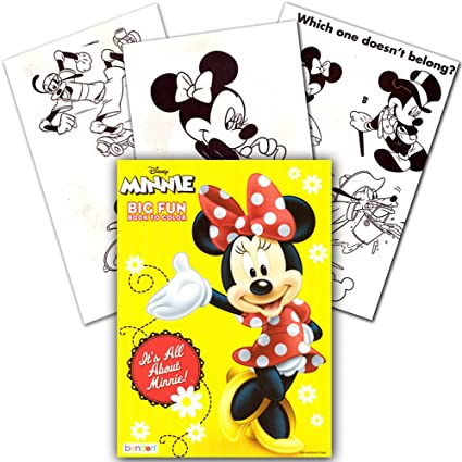 - Amazon.com: Dalmatian Press Disney Minnie Mouse Coloring Book It's All  About Minnie!: Toys & Games