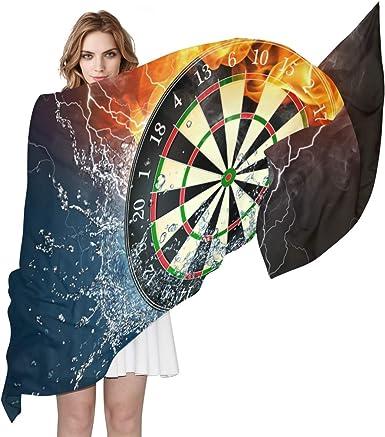 Darts All Over Design Lightweight Chiffon Long Scarf Shawl Great Gift Idea *SALE