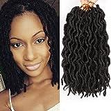 6 Packs Faux Locs Crochet braids 12inch Faux Locs Crochet Hair Extensions Kanekalon Dreadlock Crochet Twist Hair Curly…