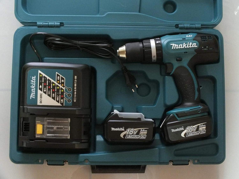 Makita DHP 453 RFE Perceuse /à Percussion /Électrique sans fil 18 volts//3 amps Mandrin Autoserrant