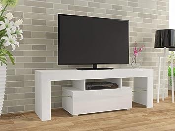 Credenza Moderna Porta Tv : Keinode tv led moderna armadio bianco opaco e laccato