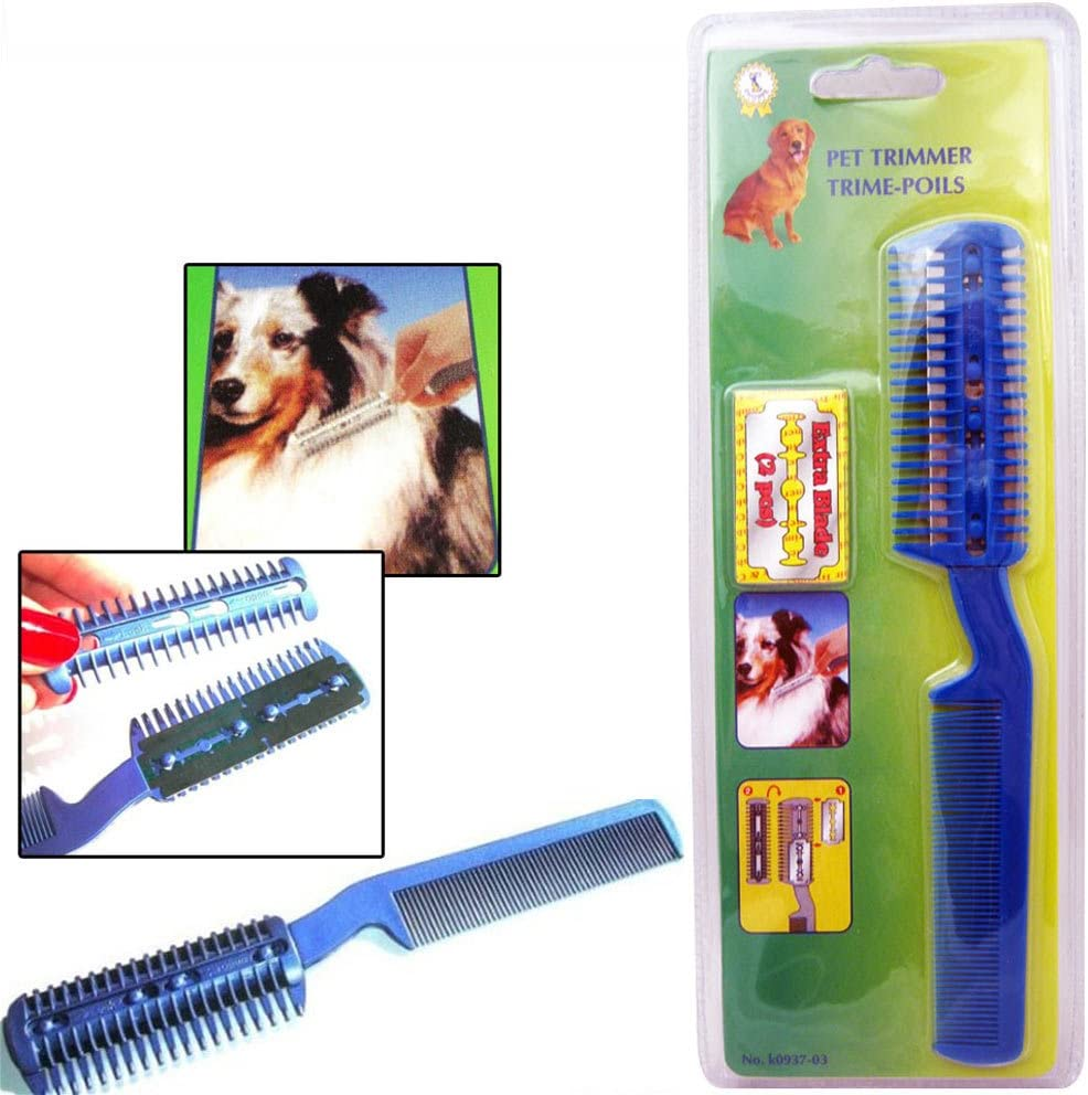 Symak Sales Co Pet Dog Cat Hair Trimmer with Comb + 10 Razor Cutting  Grooming Cut Care New Save