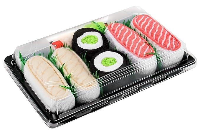 Sushi Socks Box - 3 pares de CALCETINES: Maki de Pepino, Pampanito, Salmón