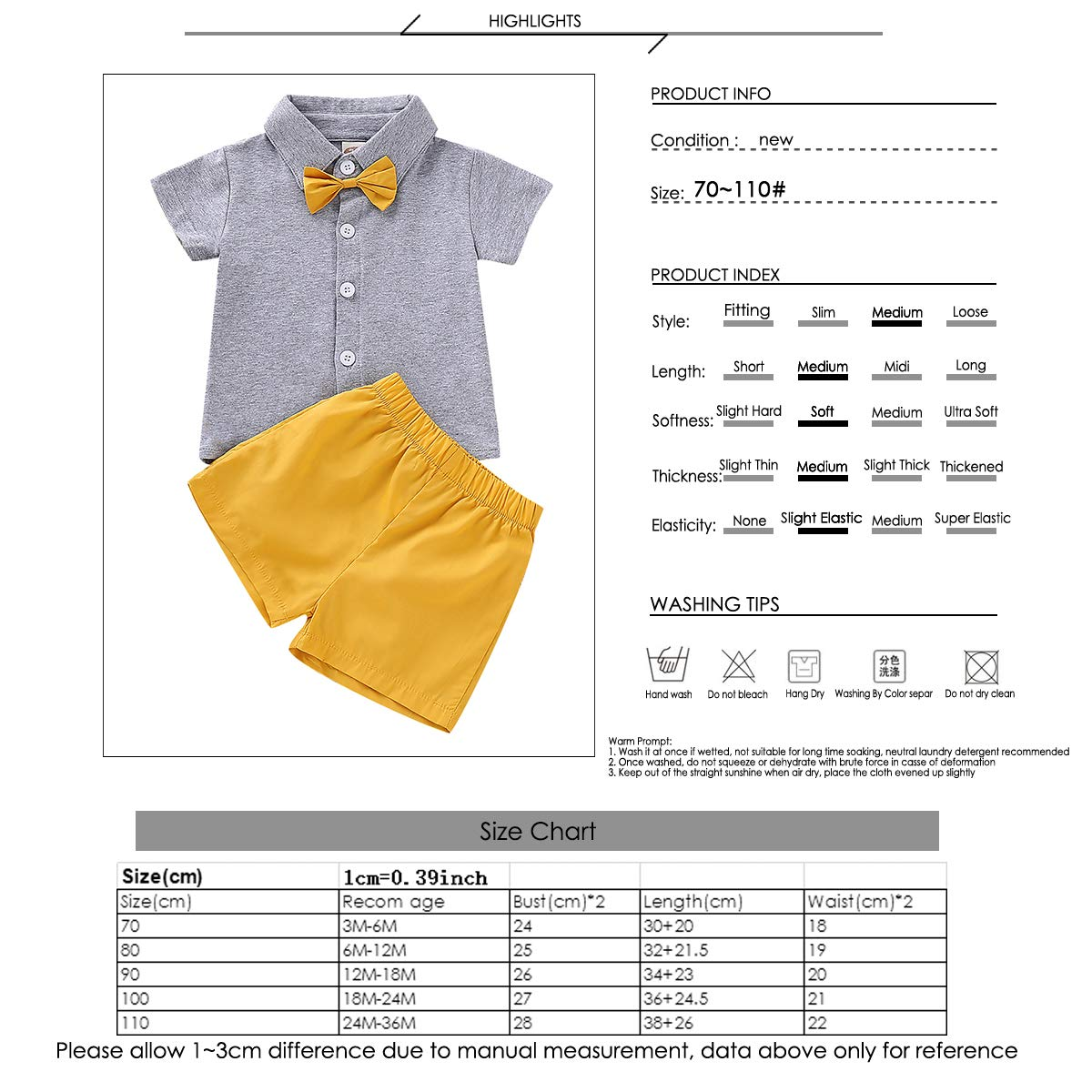 Camidy Baby Boy Girl Brother and Sister Matching Outfits Short Sleeve Tops Shorts Set