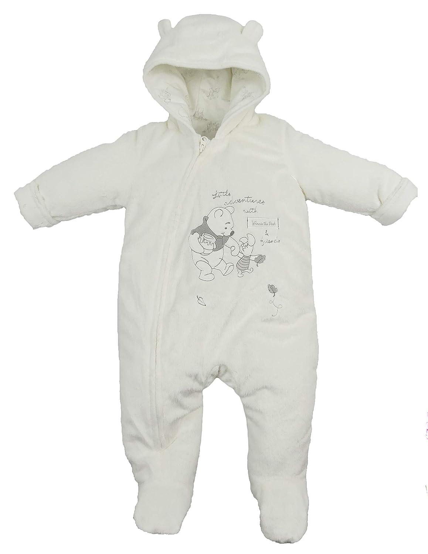 Baby Snowsuit Pram Coat Unisex Disney Winnie The Pooh Tiny Baby to 9-12 Months