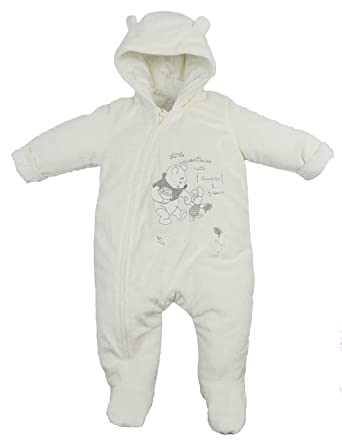 1b6a07001 Baby Snowsuit Pram Coat Unisex Disney Winnie The Pooh Tiny Baby to 9-12  Months Cream: Amazon.co.uk: Clothing