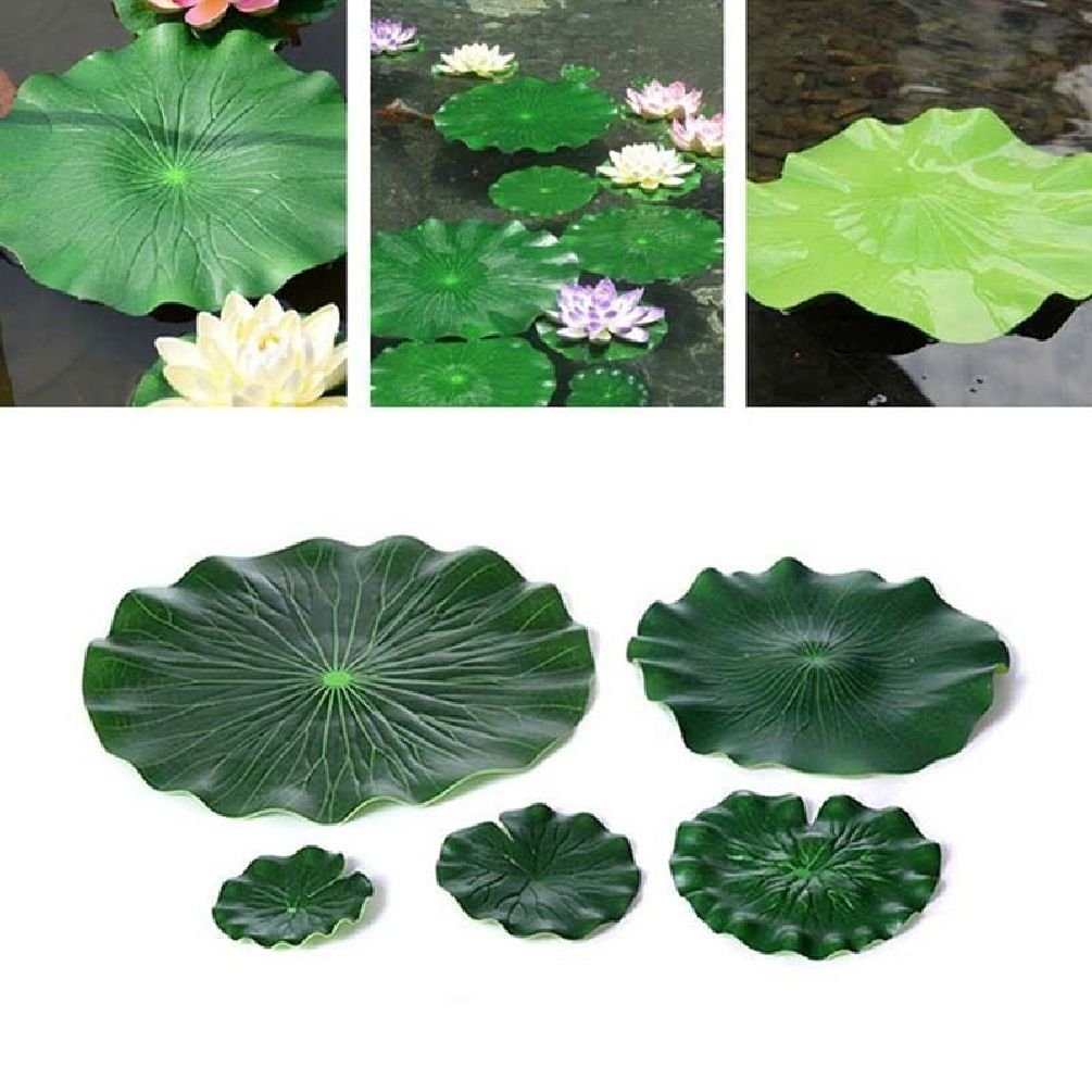 10Pcs Floating Pool Lotus Leaf Water Decorative Aquarium Fish Pond Scenery 18Cm