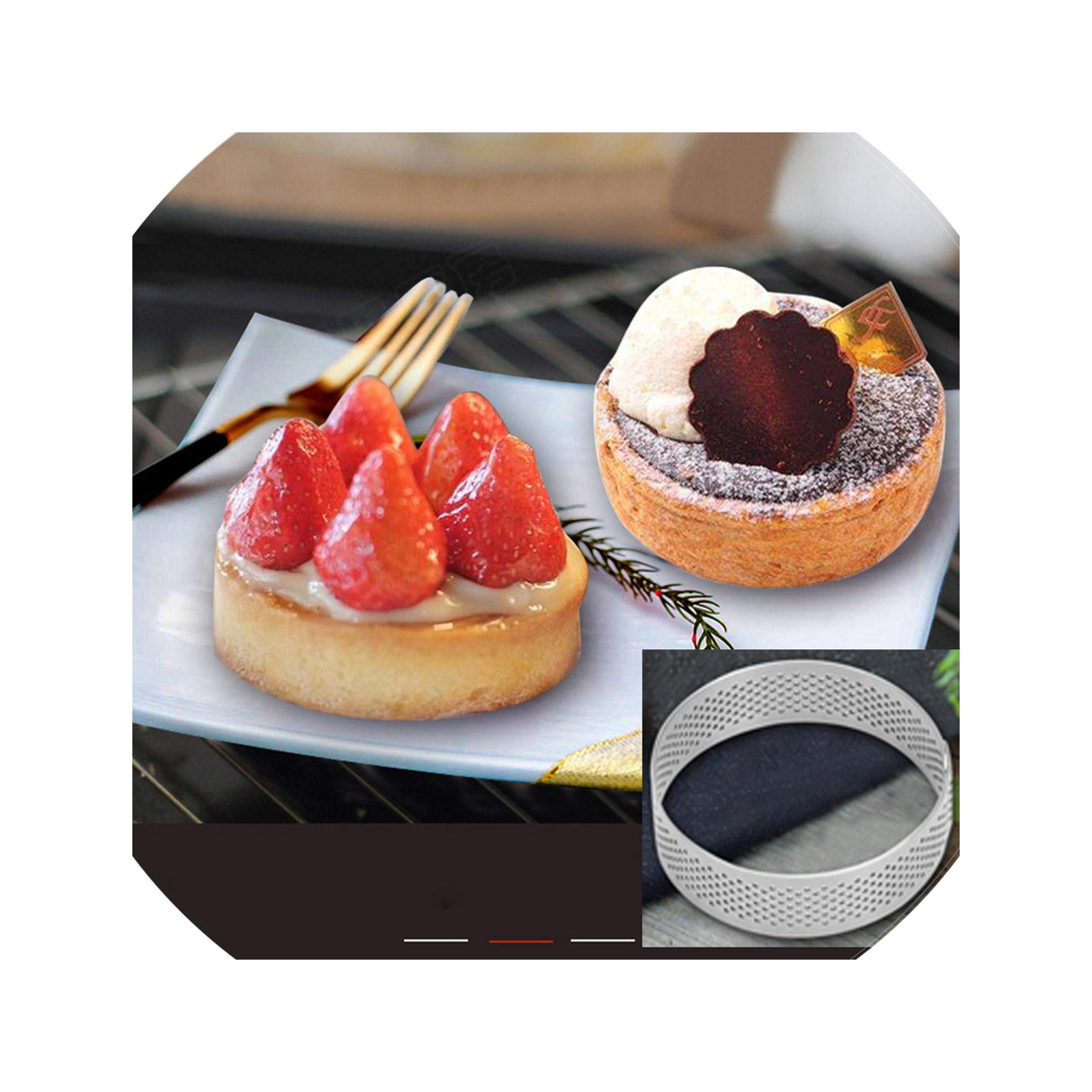 Non-Stick Stainless Steel Material Home Bake Large Size Circle Cake Mould Baking Tool,10Cm
