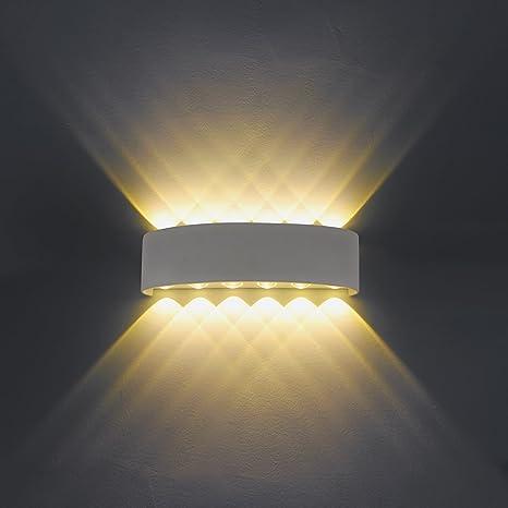 Lampada da parete, Moderno 8 LED lampada da parete applique Interni ...