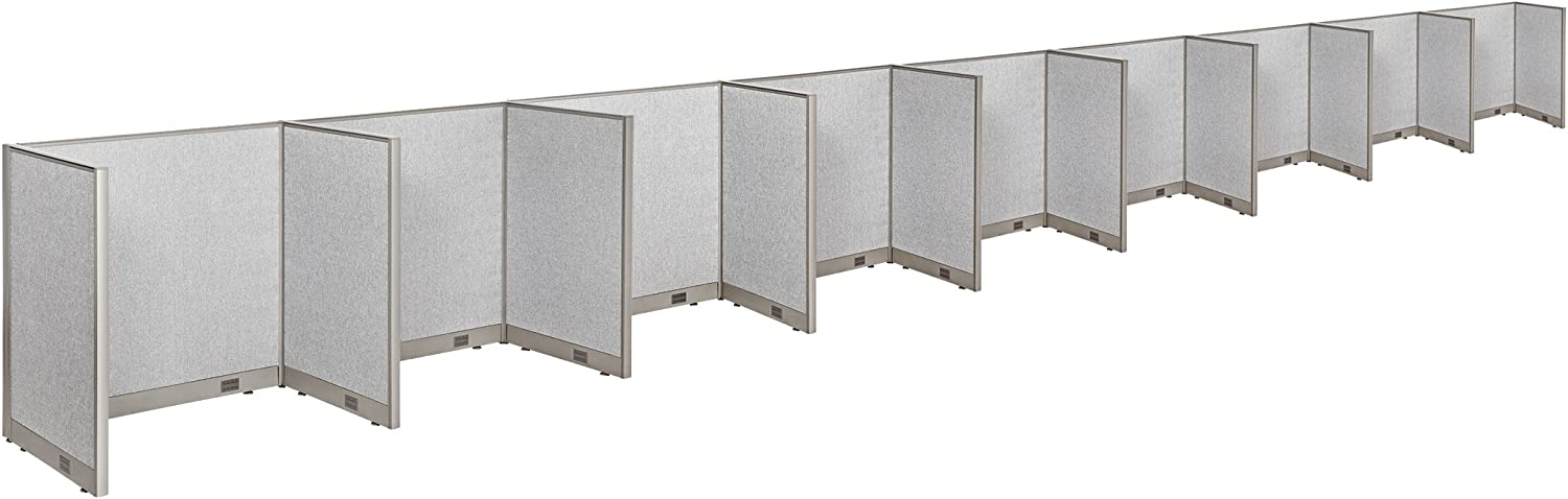 """GOF Cubicle Single 9 Station Office Partition, Large Fabric Room Divider Panel Workstation, 30""""D x 48""""W x 48""""H"""