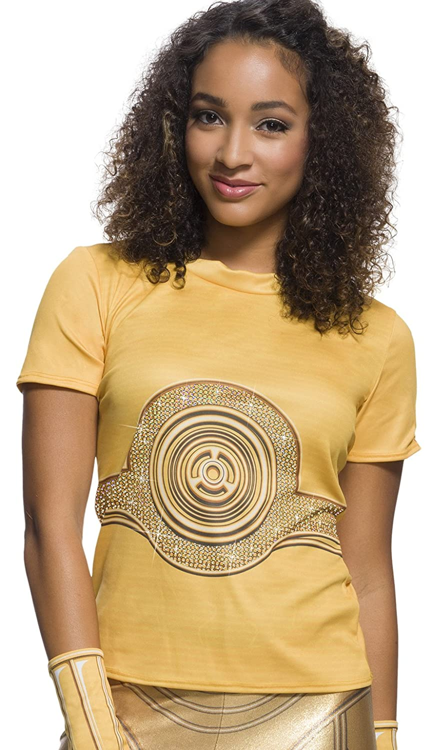 Rubie's Adult Star Wars C-3PO Rhinestone Costume T-shirt Rubies Costumes - Apparel 820594