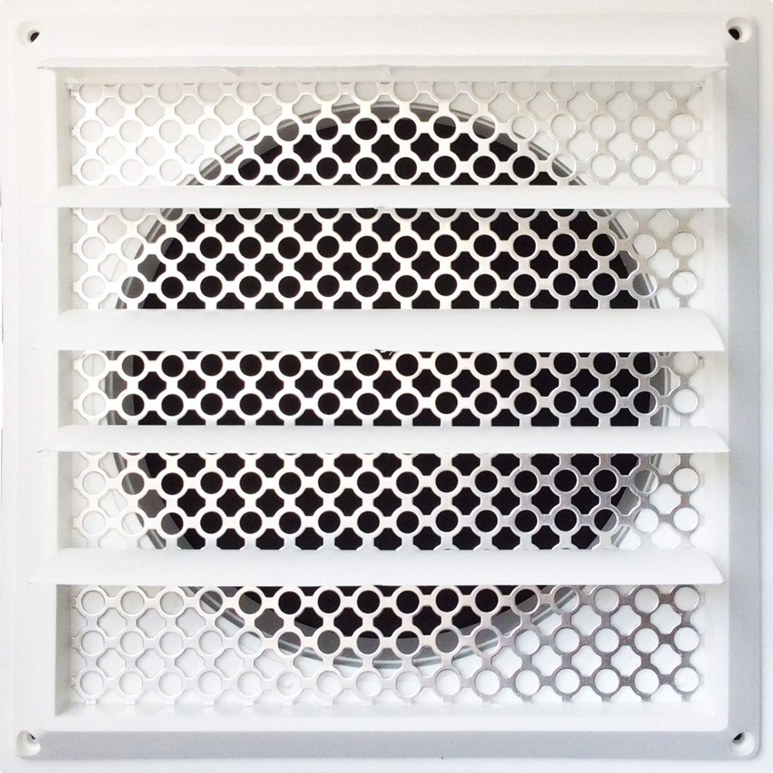 New Aroma Trees Dryer Vent Bird Stop - Dryer Vent Grill - Pest Guard - Stops Birds Nesting In Dryer Vents and Bathroom Exhaust Vents Pipe, Customizable 3'' - 8'' Louver Vent Hood Cover Guard by Aroma Trees (Image #1)
