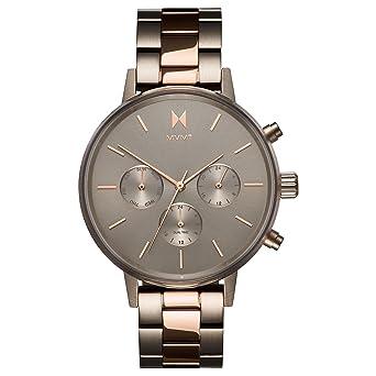 MVMT Reloj Cronógrafo para Mujer de Cuarzo con Correa en Acero Inoxidable D-FC01-TIRG: Amazon.es: Relojes