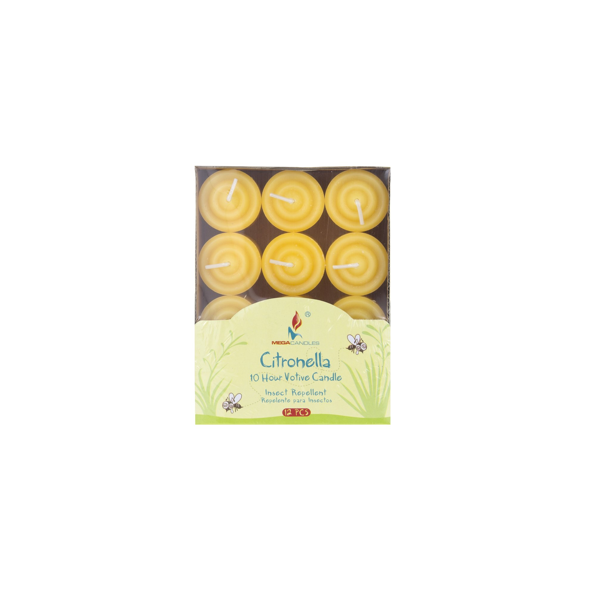 Mega Candles 12 pcs Citronella Votive Candle | Hand Poured Paraffin Wax Candles 8 Hours Candle | Bug Repellent Candles For Indoor And Outdoor Use | Everyday Candles For Mosquitoes And Insects