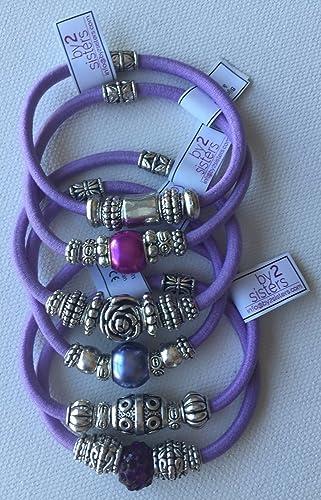 Pack pulseras-coleteros lilas: Amazon.es: Handmade
