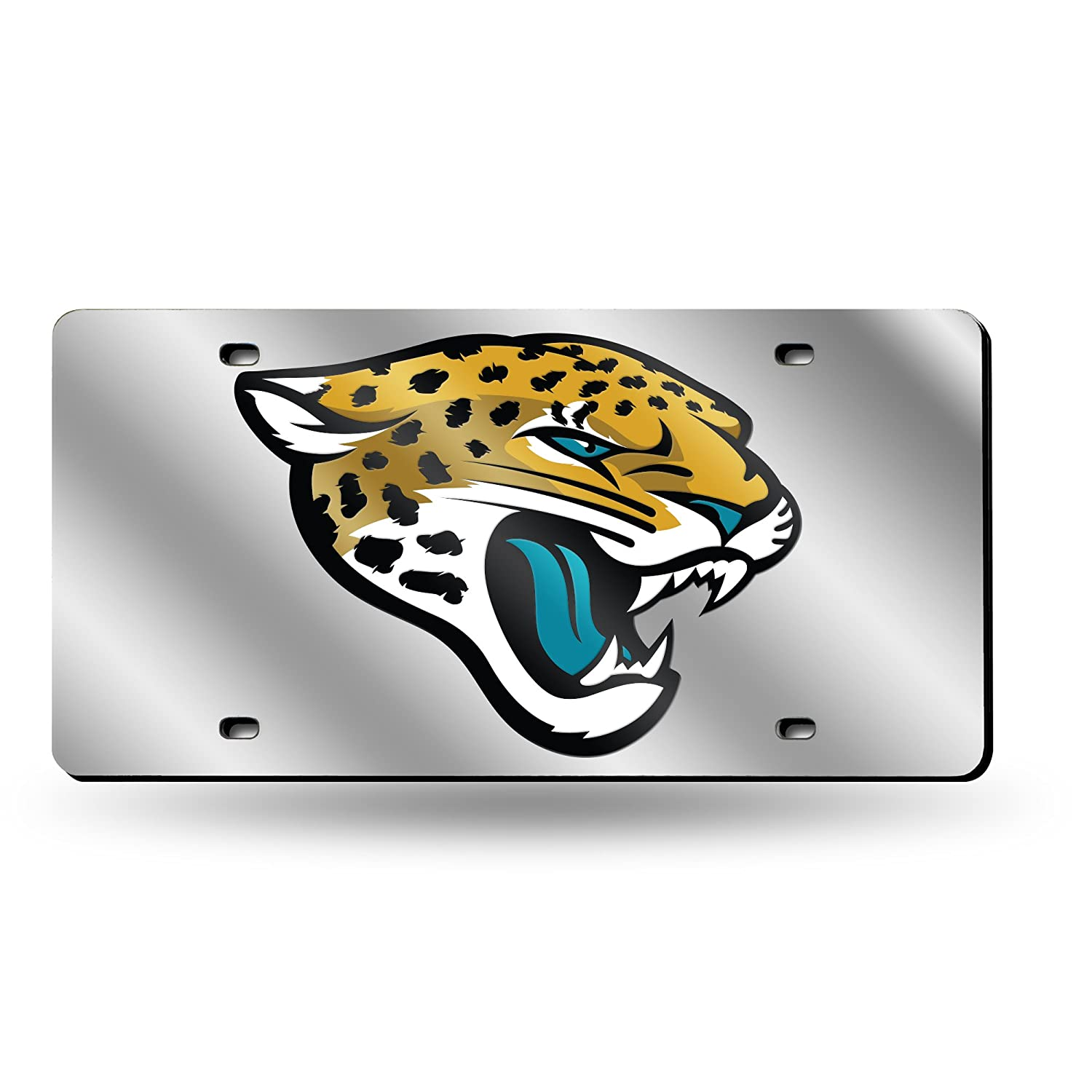 Silver Rico Industries NFL Laser Inlaid Metal License Plate Tag