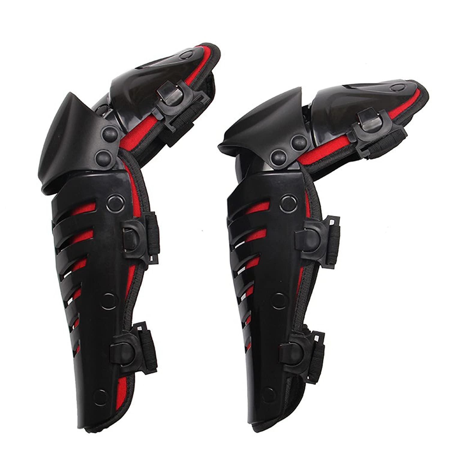 BARHAR 1 Pair of Adults Fashion Knee Shin Armor Protect Guard Pads Accessories with Plastic Cement Hook for Motorcycle Motocross Racing BARHAR02