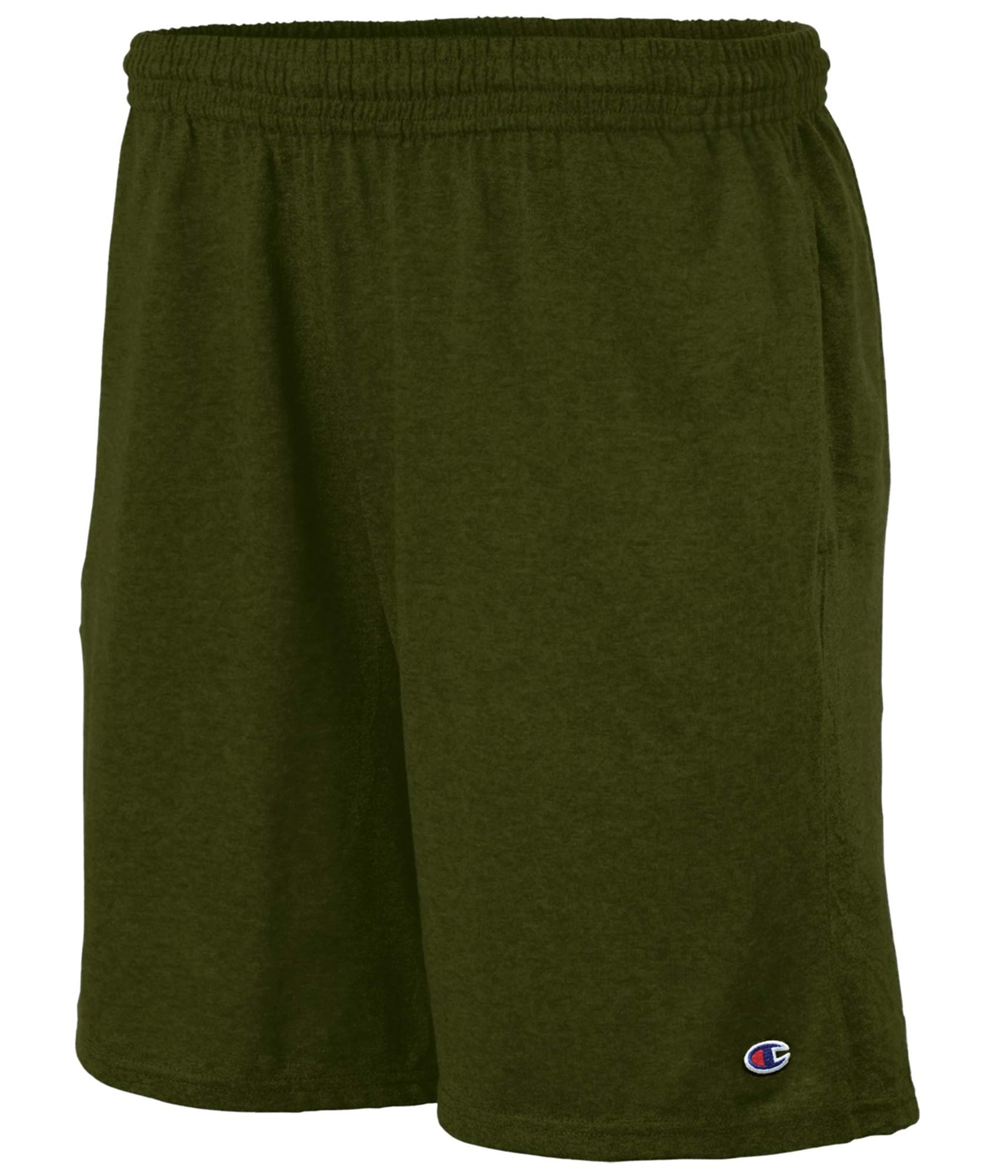Champion Authentic Men`s Cotton Jersey 9-inch Shorts with Pockets, XL by Champion