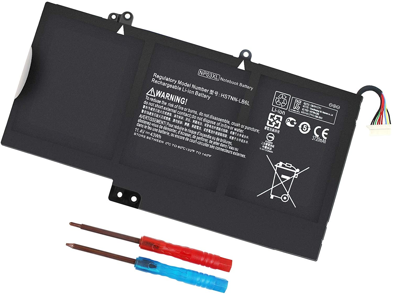 NP03XL 761230-005 Laptop Battery for HP Envy X360 15-U011DX 15-U010DX 15-U110DX 15T-U100 15-U111DX 15- U483CL 15-U493CL,HP Pavilion X360 13-A010DX 13-A012DX 13-A013CL 13-A110DX - 12 Month Warranty
