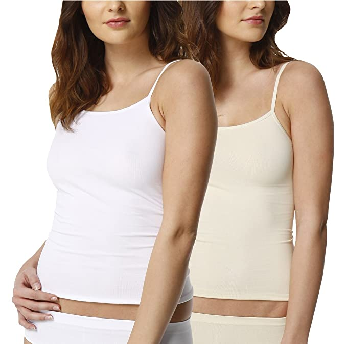 2 Pack Camiseta interior invisible para mujer, microfibra: Amazon.es: Ropa y accesorios