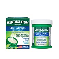 Mentholatum Original Ointment, 3 Ounce (85g) – 100% Natural Active Ingredients for...