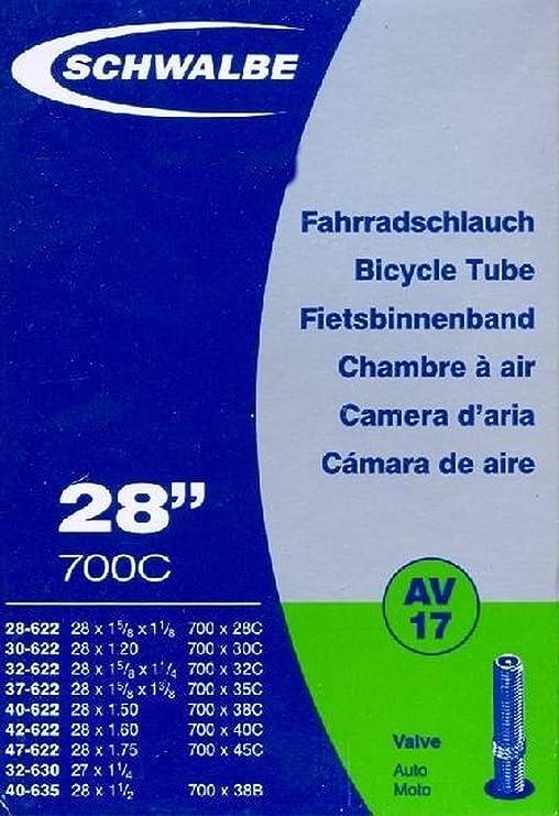 C/ámara de Aire para Bicicletas Schwalbe 18 Extra Light 28 Pulgadas